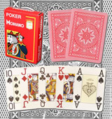 Modiano Cristallo marked playing cards with glasses
