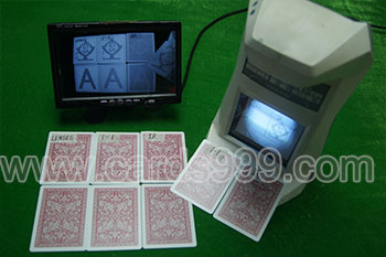 Far infrared camera and marked cards