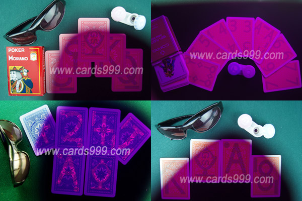 Infrared lenses marked cards