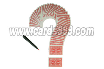 Luminous invisible ink marked cards magic