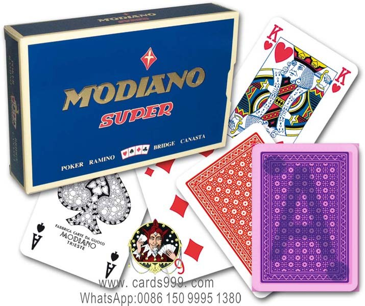 Modiano Super Fiori infrared marked cards